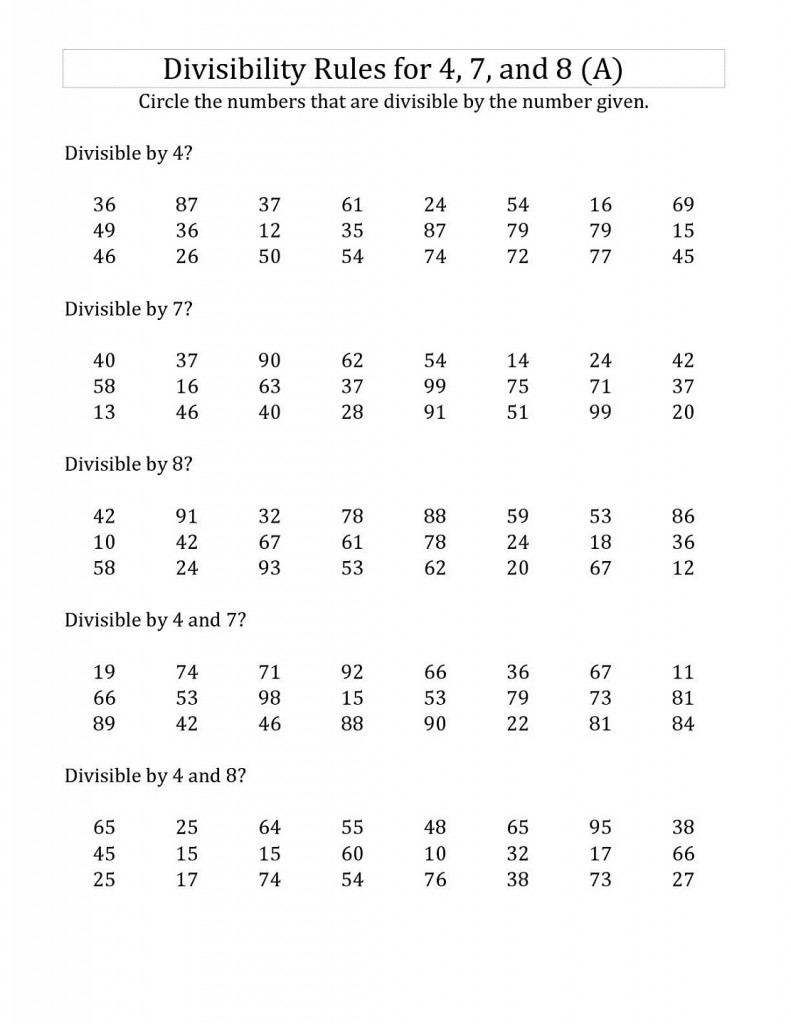 Divisibility Rules Worksheets 5th Grade worksheet divisibility – Divisibility Rules Worksheet 4th Grade