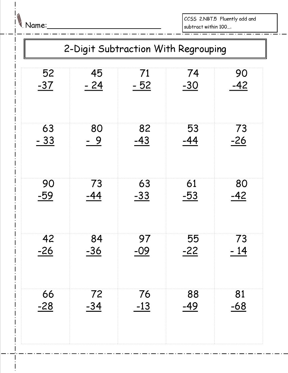 worksheet Math Aid Worksheets 2 digit math worksheets activity shelter image via drills com