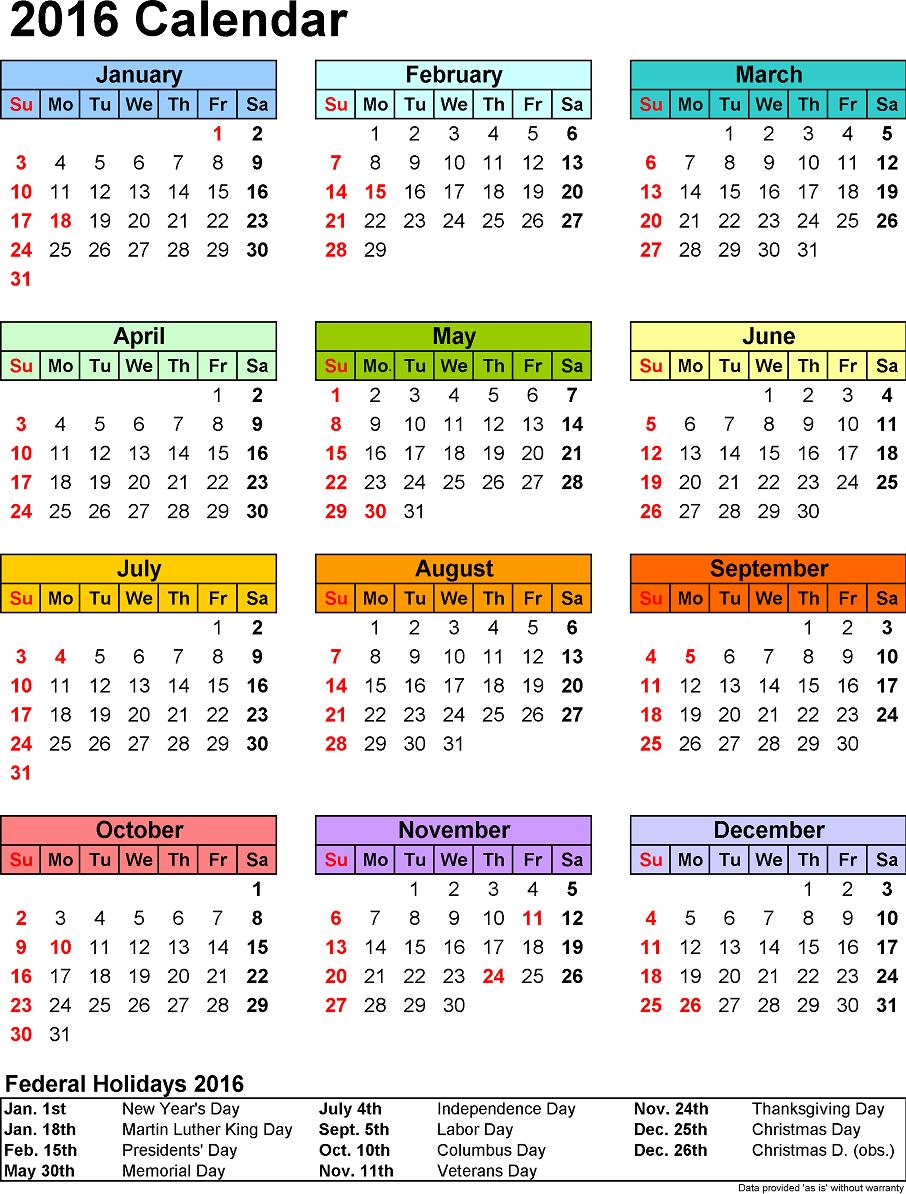 image via calendarpedia.com