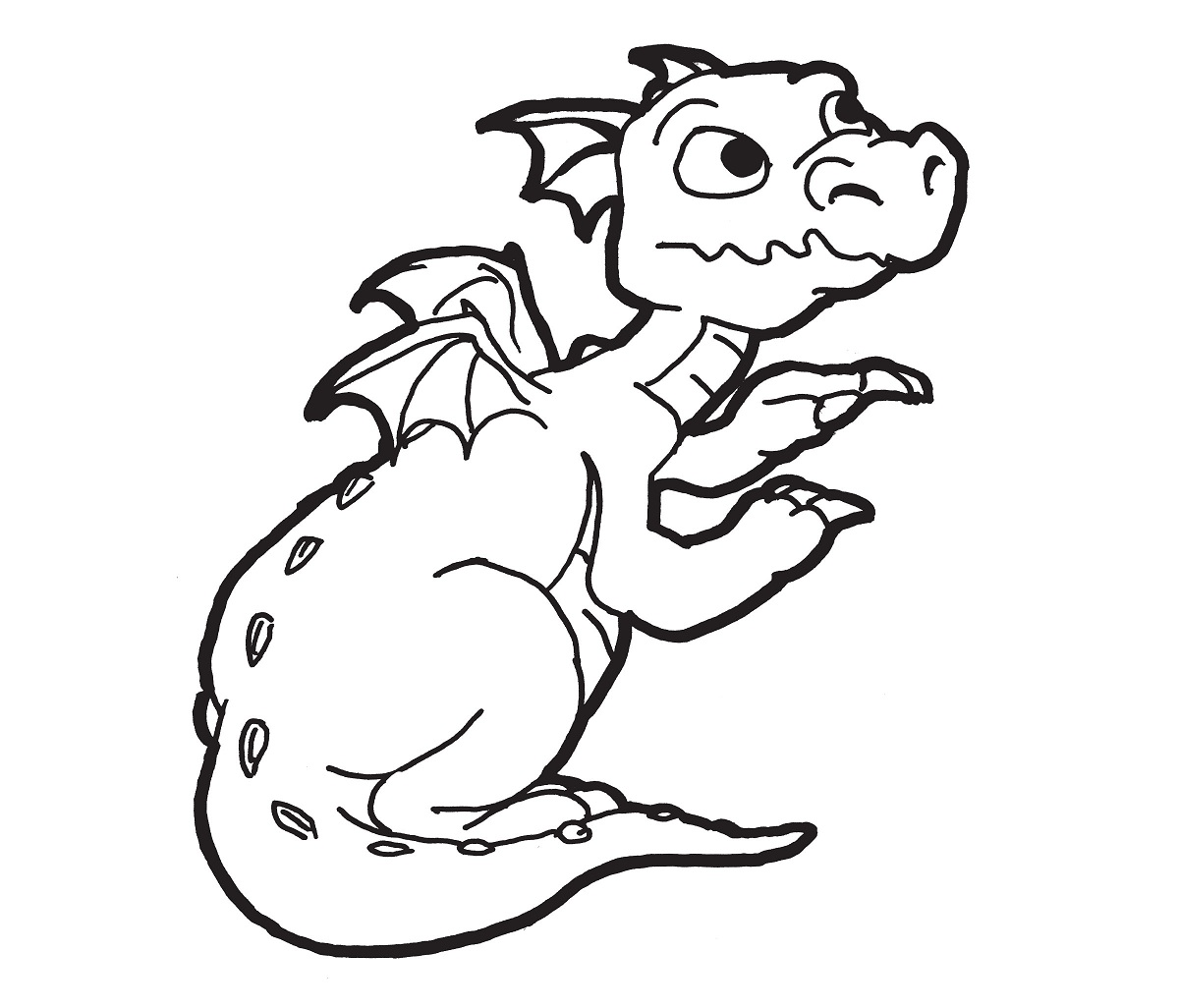 Dragon Coloring Pages Easy | Activity Shelter