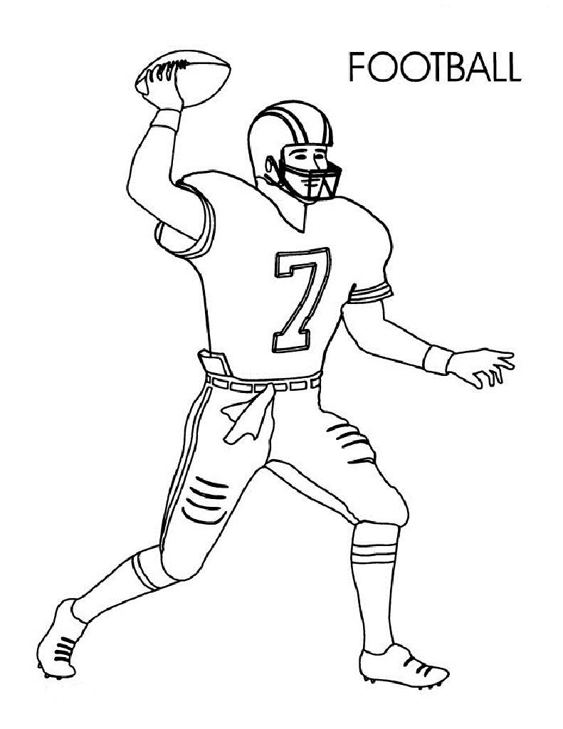Football coloring pages for preschoolers activity shelter for Soccer coloring pages to print