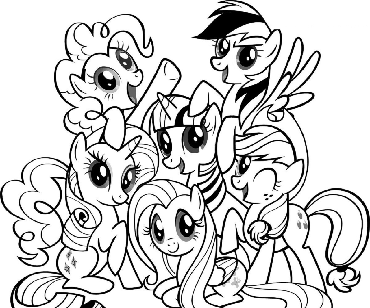 My little pony coloring pages free to print