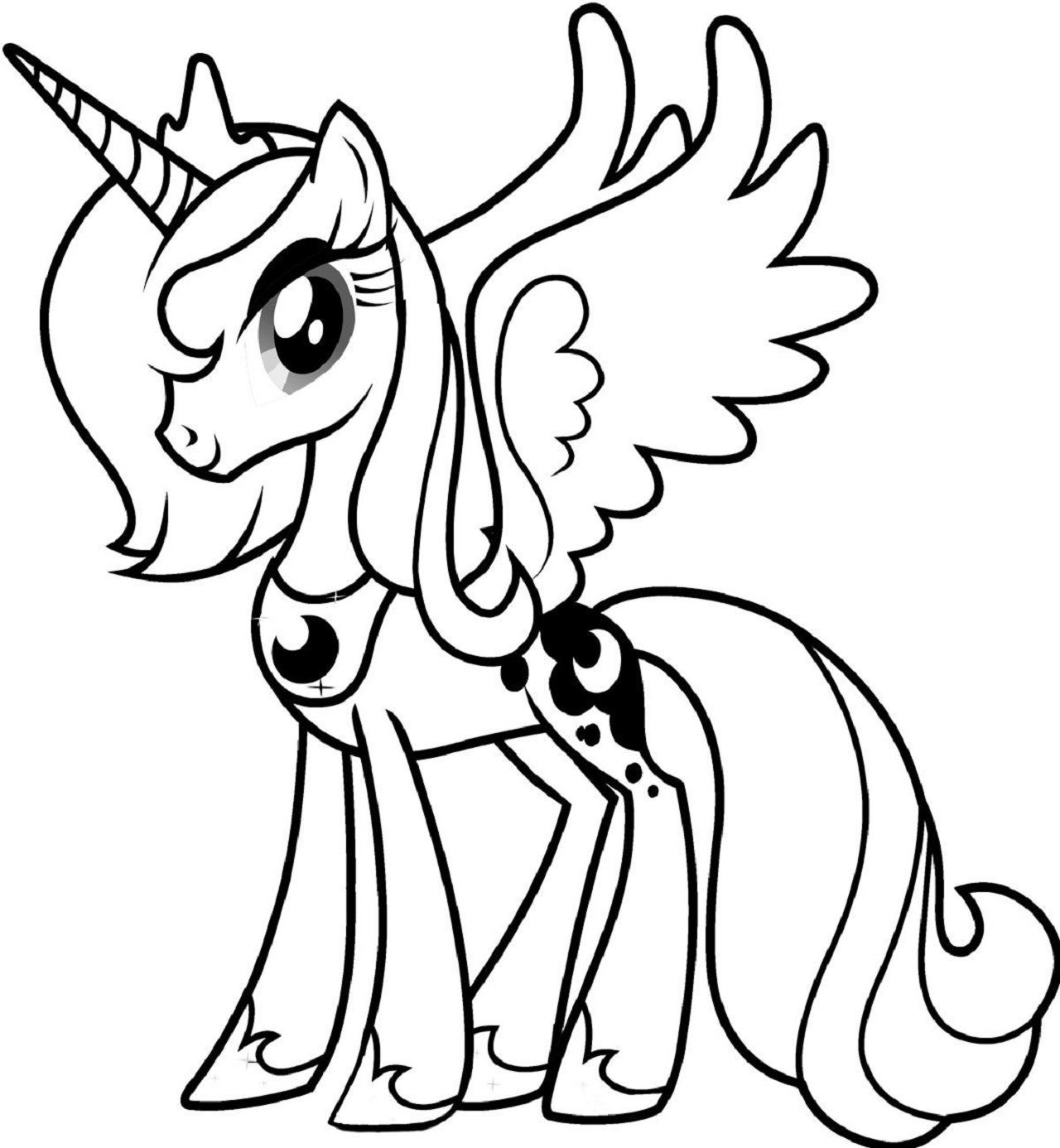 This is a picture of Mesmerizing Pony Coloring Picture