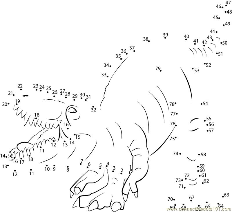 Dinosaur Connect Dots Coloring