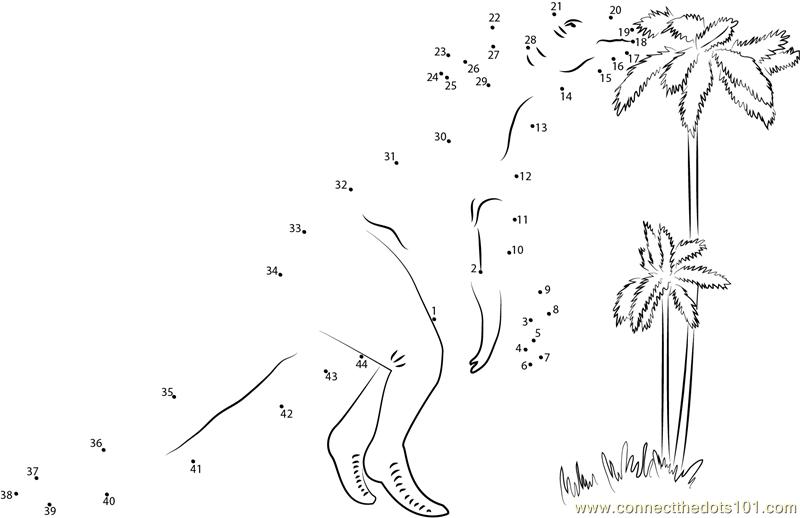 Dinosaur Dot to Dot Tracing Activity