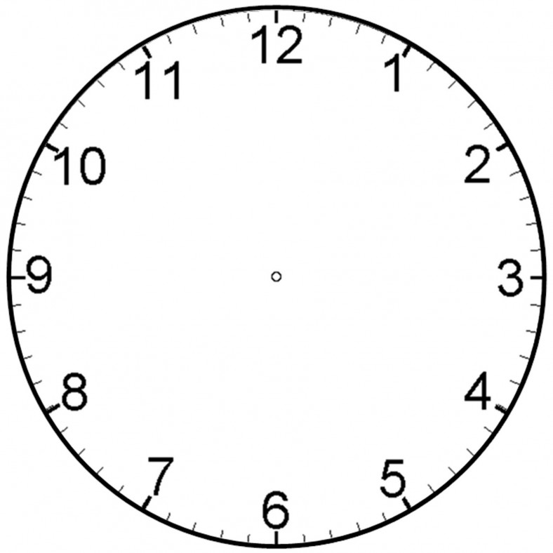 Printable Clock simple