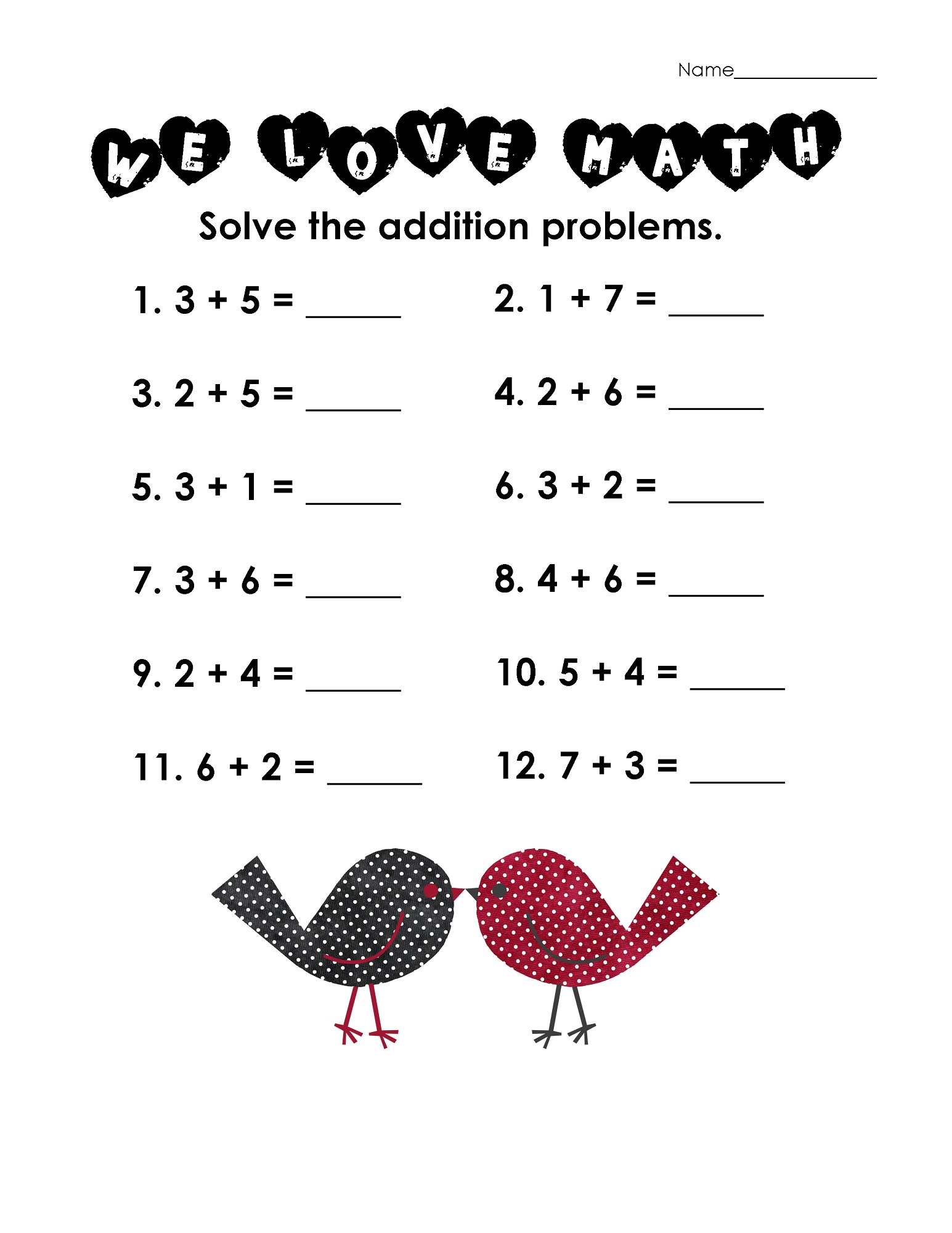 Easy Math Worksheets : Addition worksheets for grade activity shelter