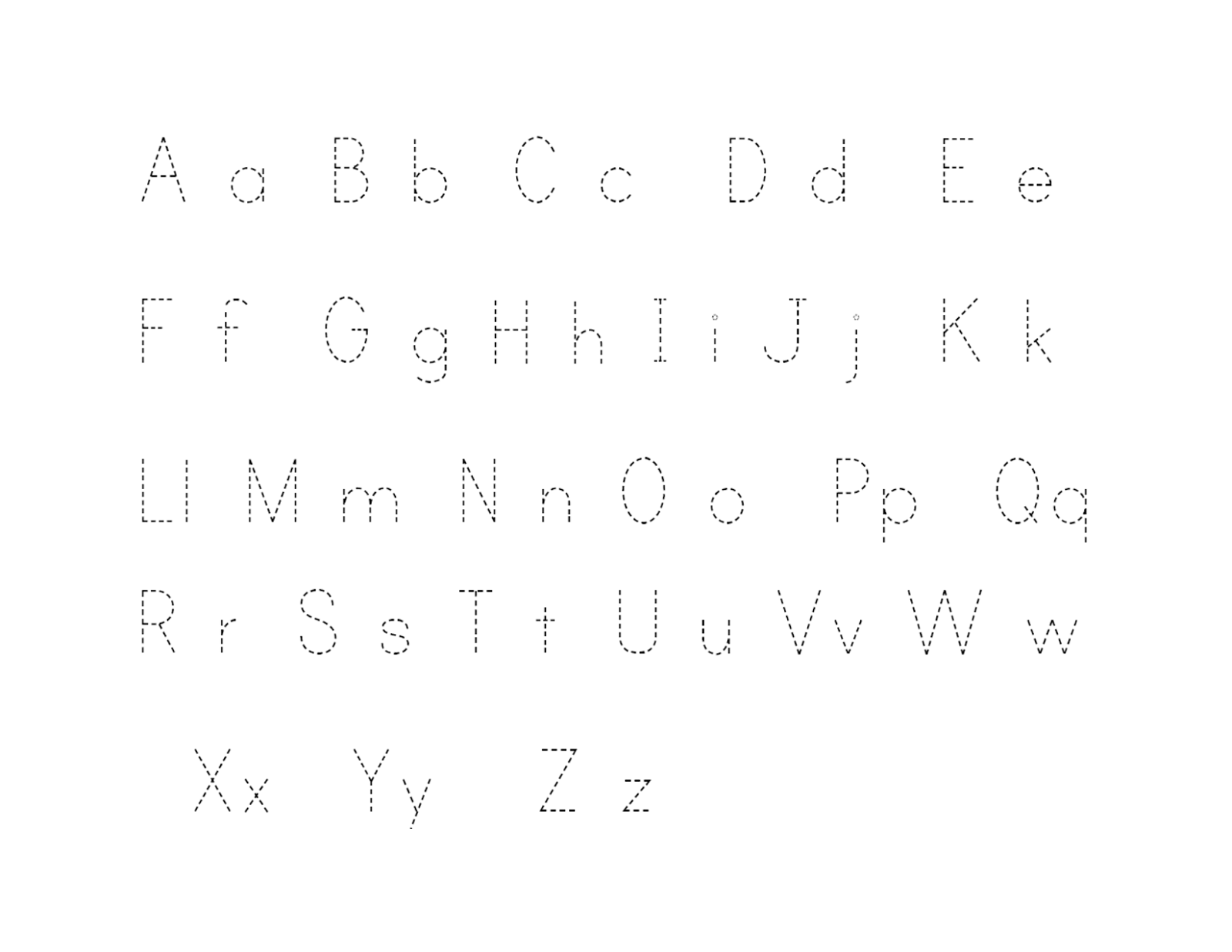 alphabet tracer pages 2016