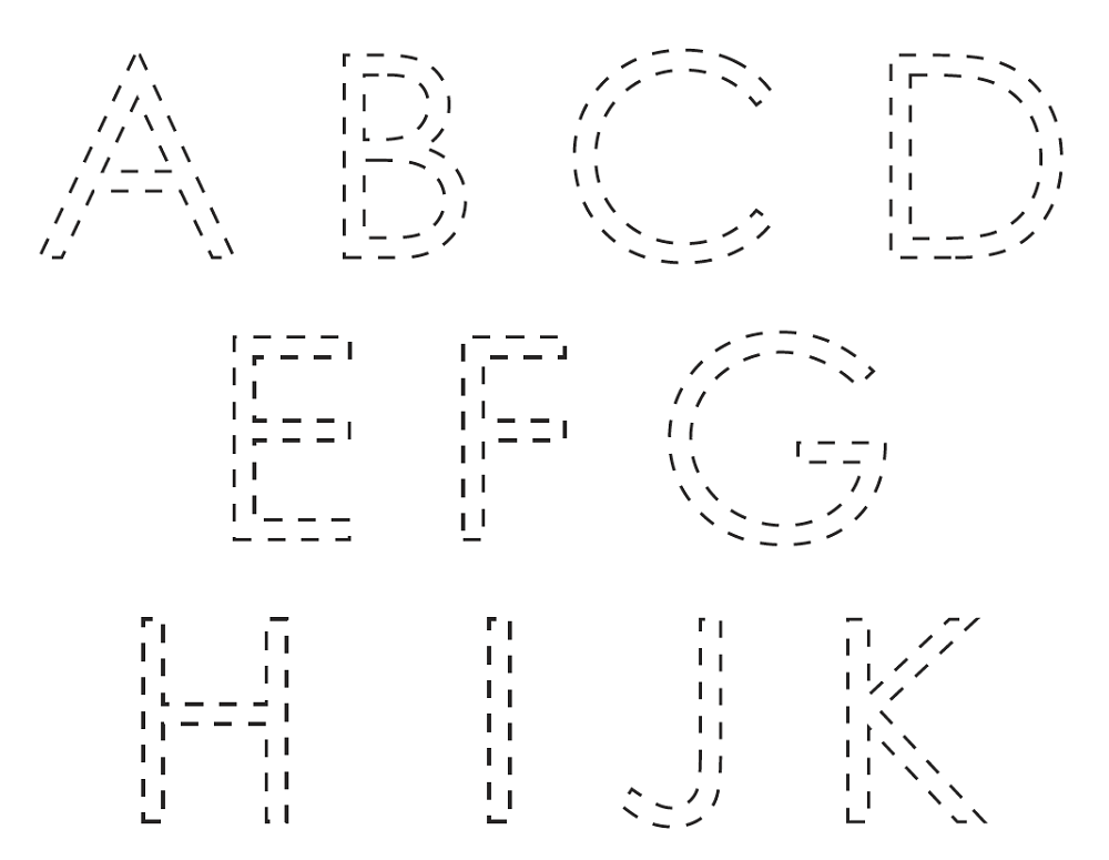 alphabet tracer pages free