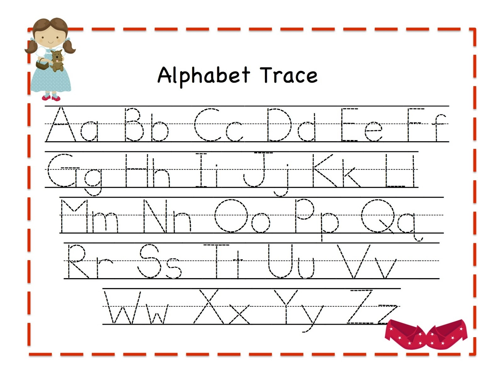 Alphabet Tracer Pages for Kids | Activity Shelter