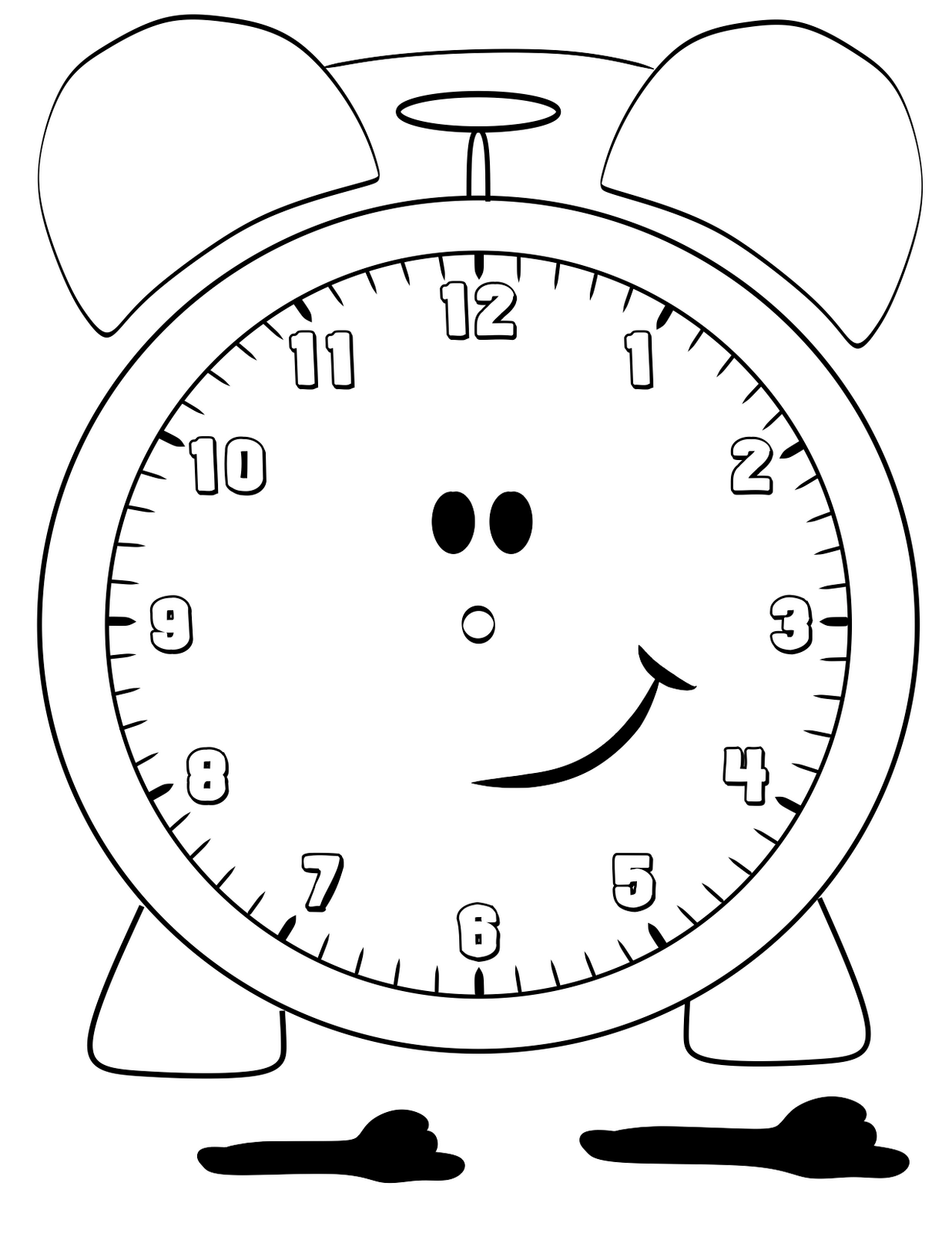 Blank Clock Faces for Exercises – Blank Clock Worksheet