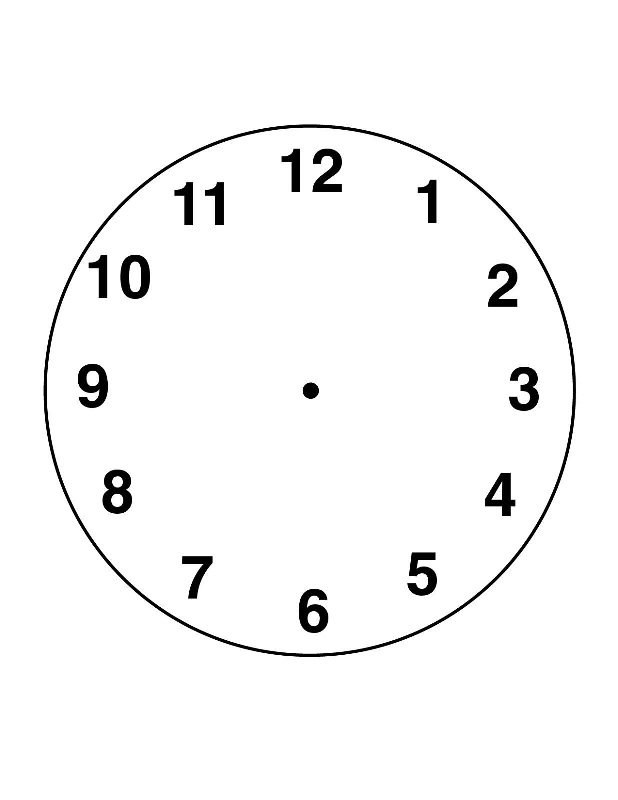 blank clock faces for print