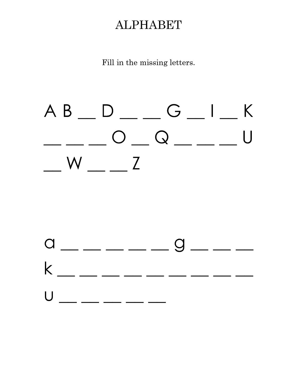 Capital Lowercase Letters Worksheet