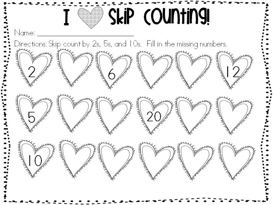 count by 2 worksheet new