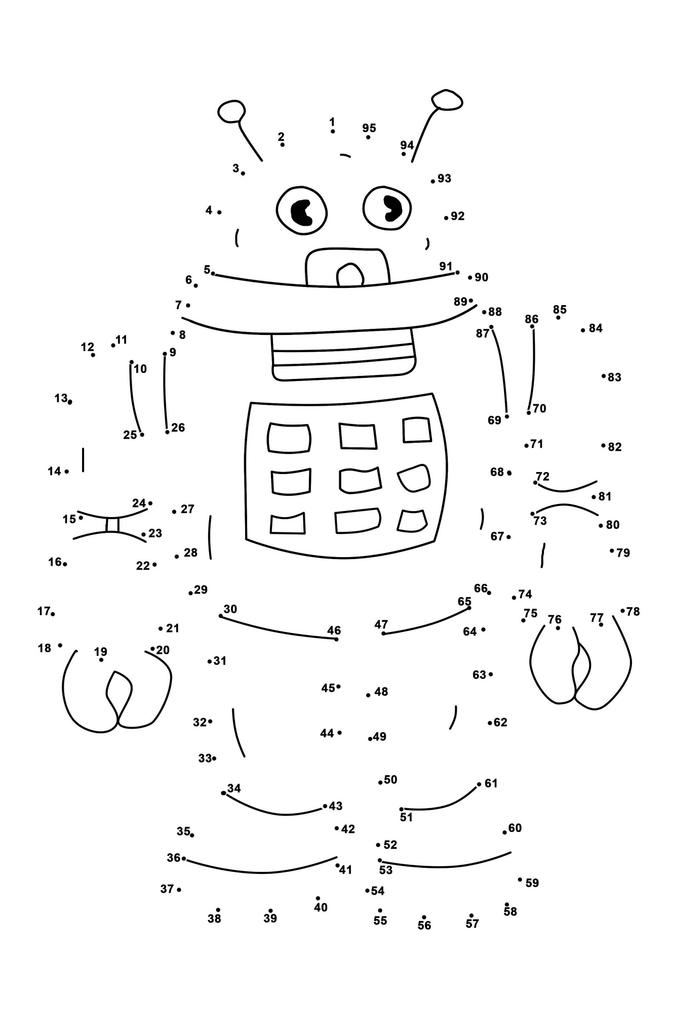 Refreshing image with preschool dot to dot printable