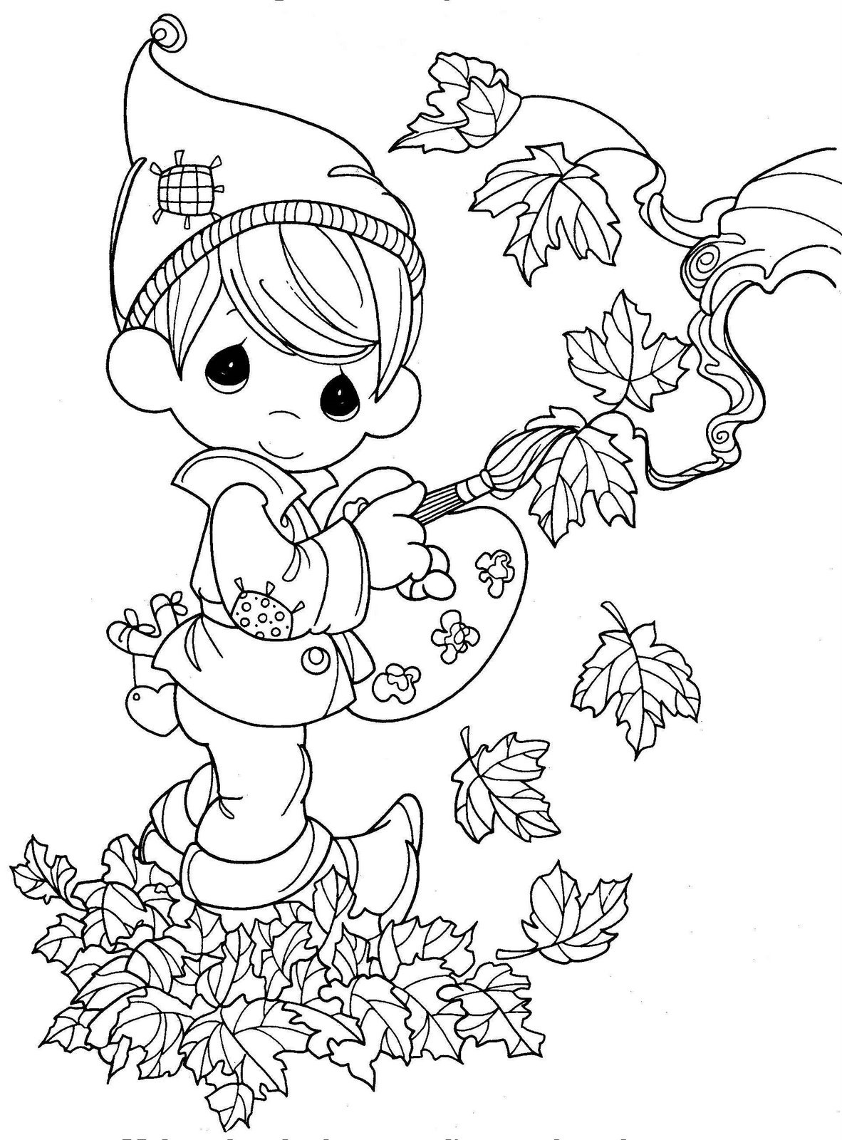fall color pages autumn