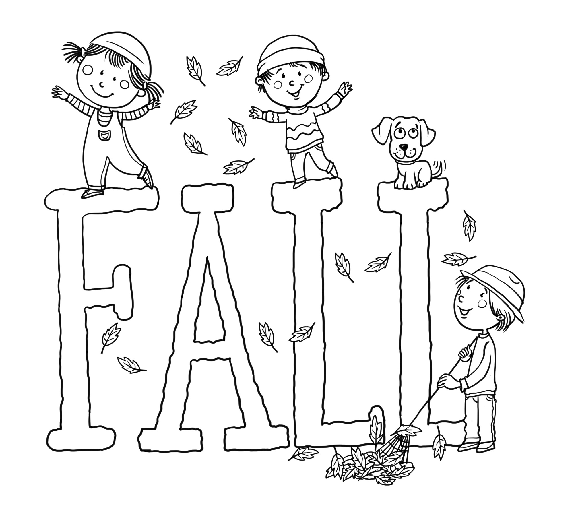 Fall Color Pages Printable Activity