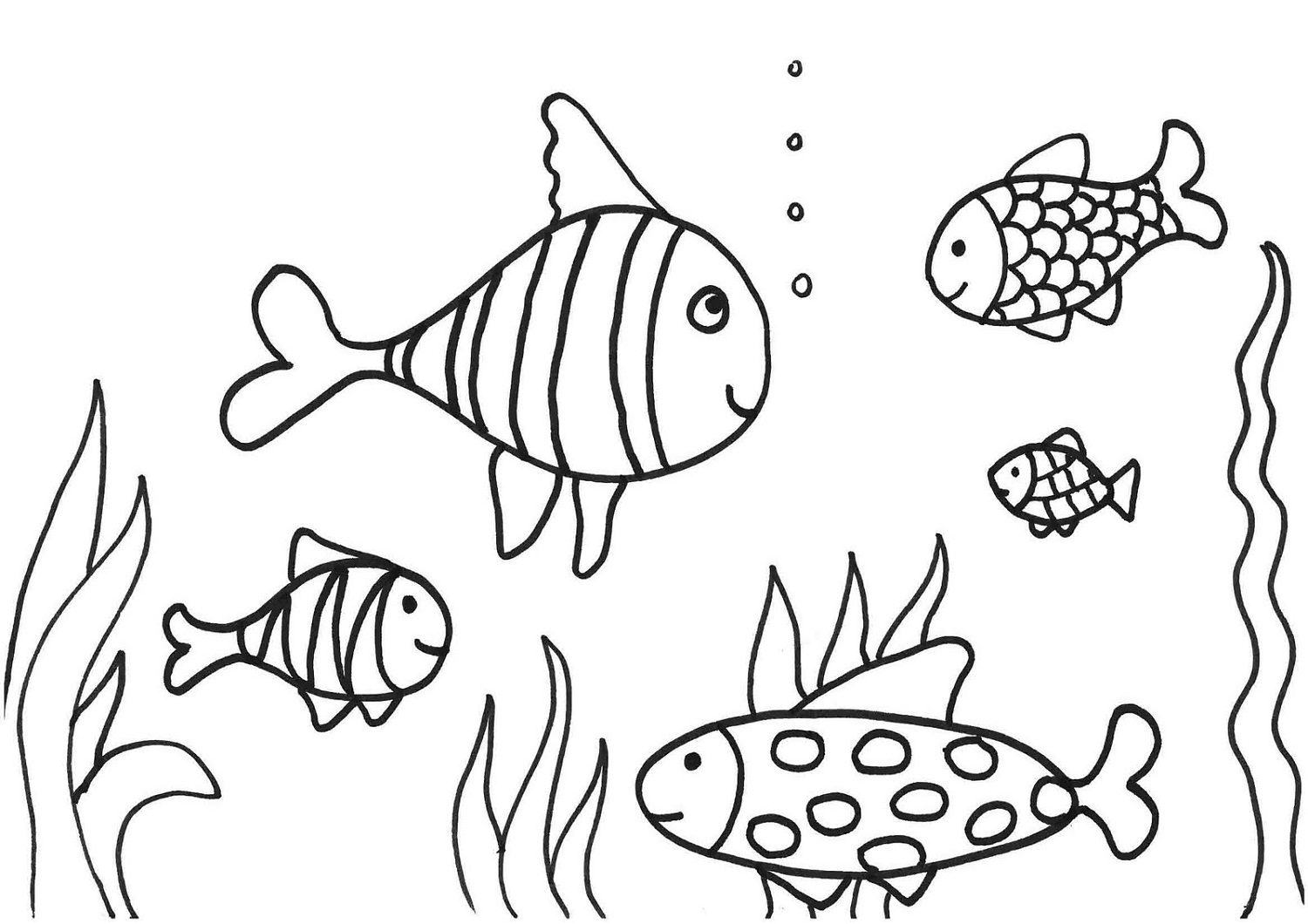 fish coloring page children