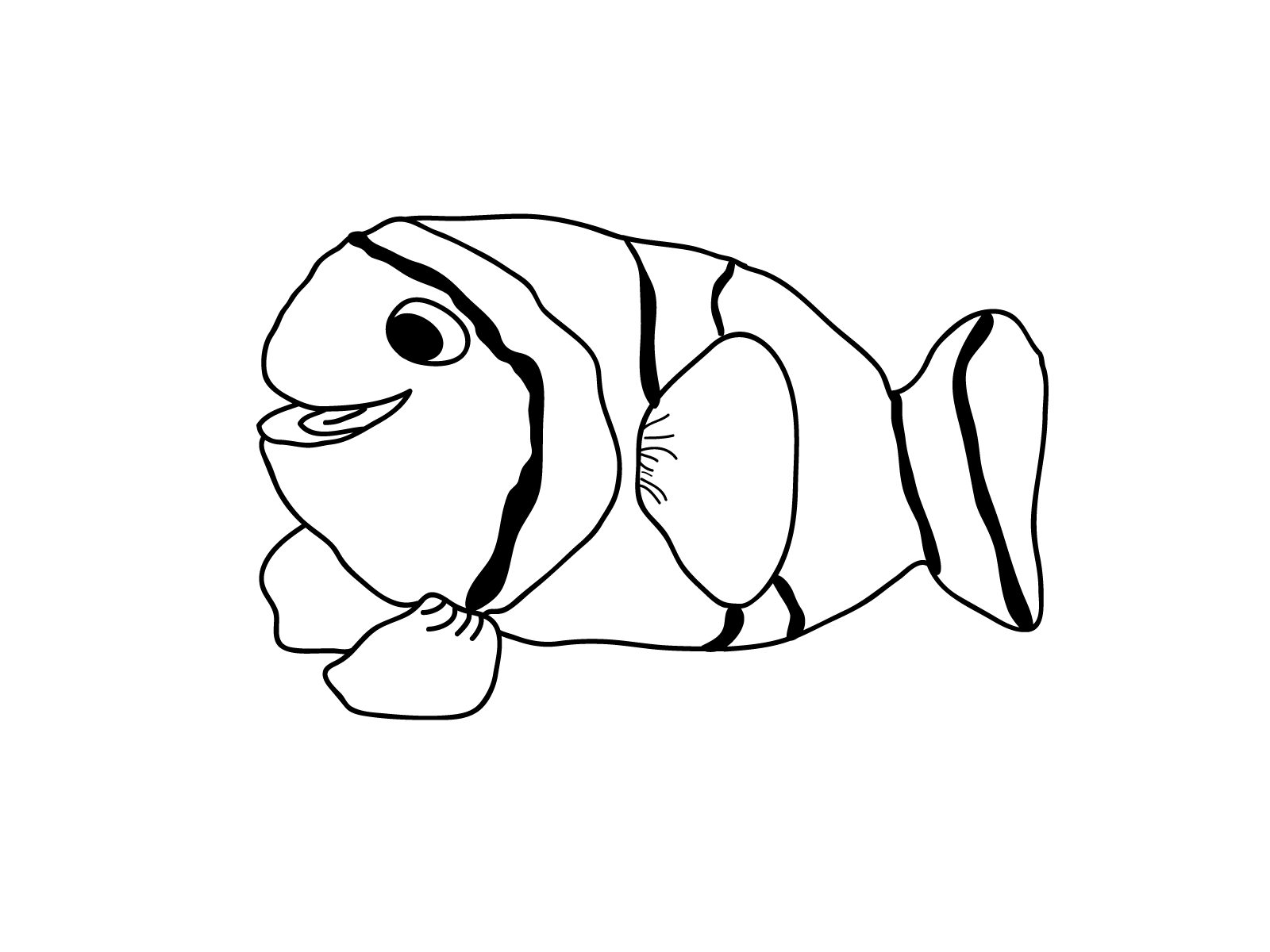 fish coloring page for young children