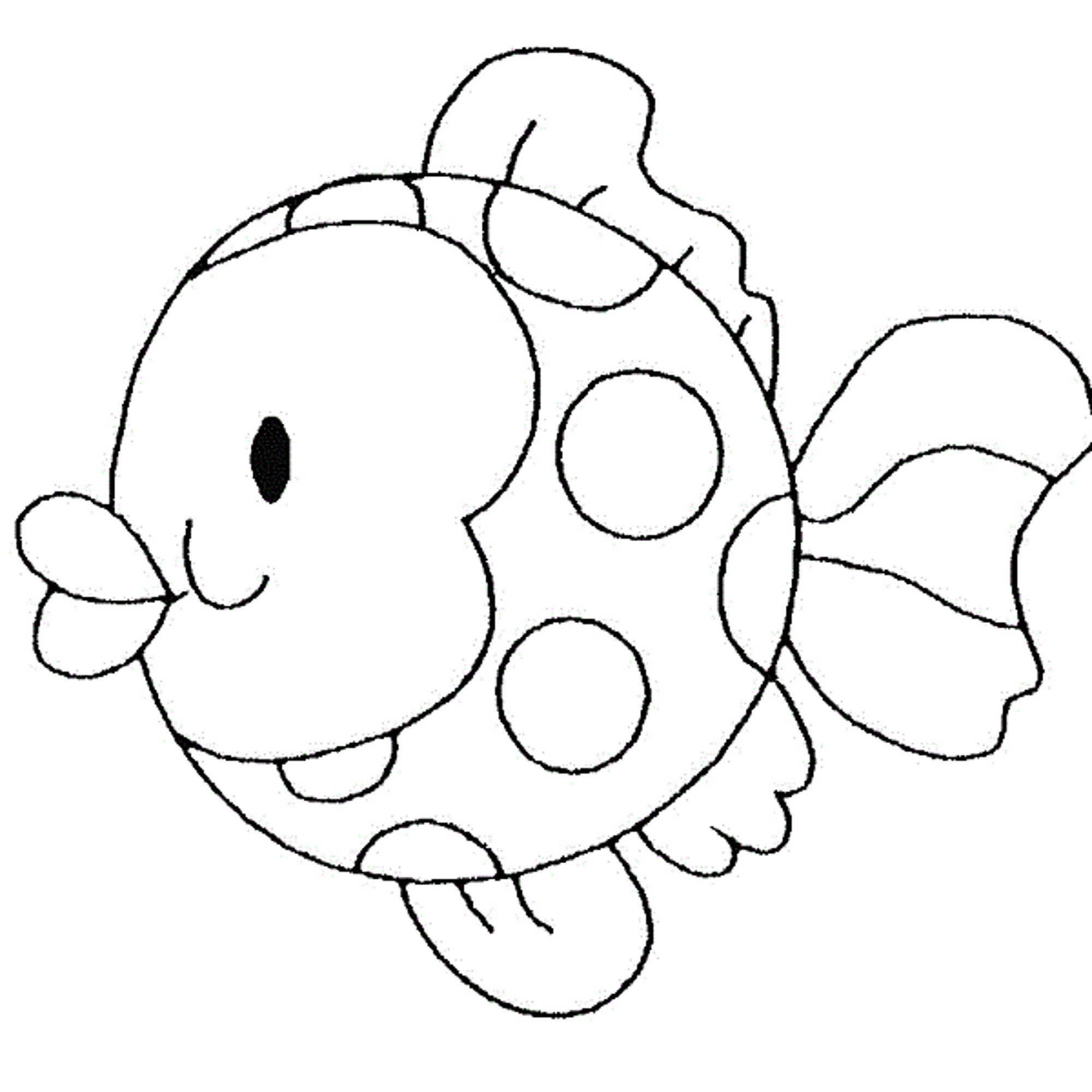 fish coloring page funny