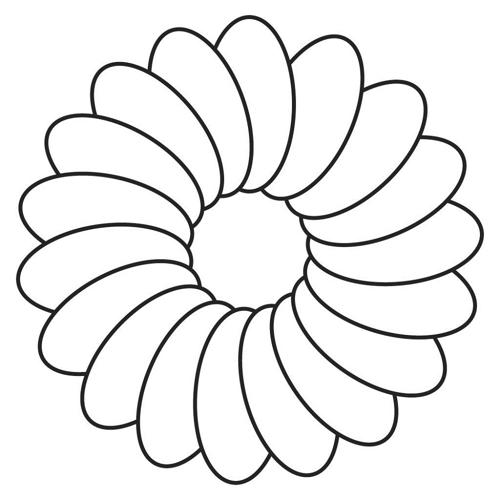 flower template for kids