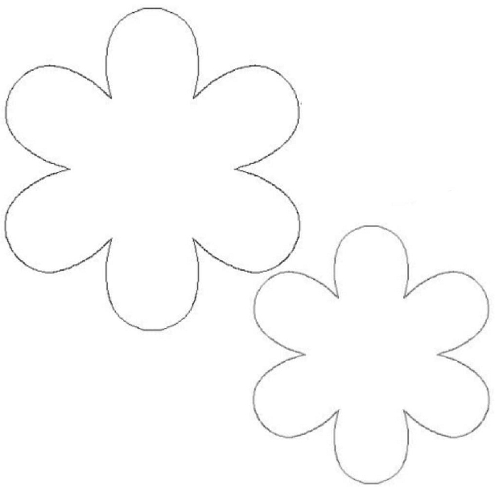 Flower template for childrens activities activity shelter flower template free pronofoot35fo Image collections
