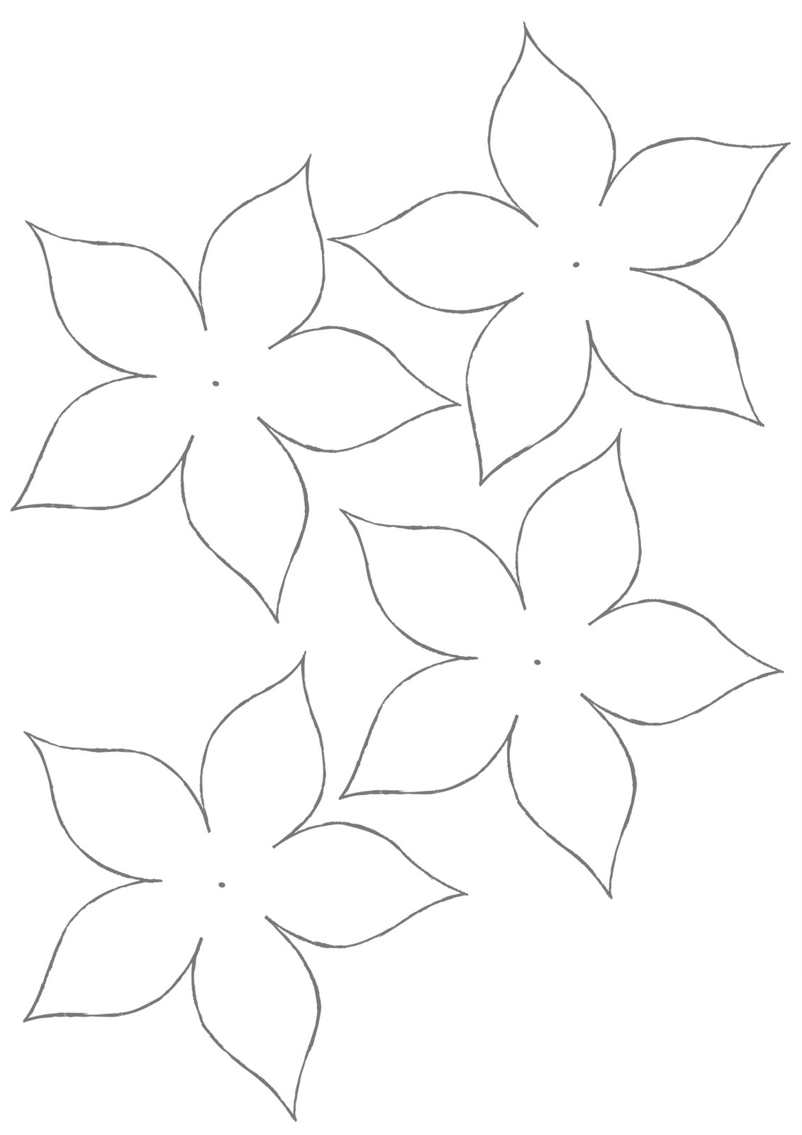 paper cut out templates flowers - flower template for children 39 s activities activity shelter
