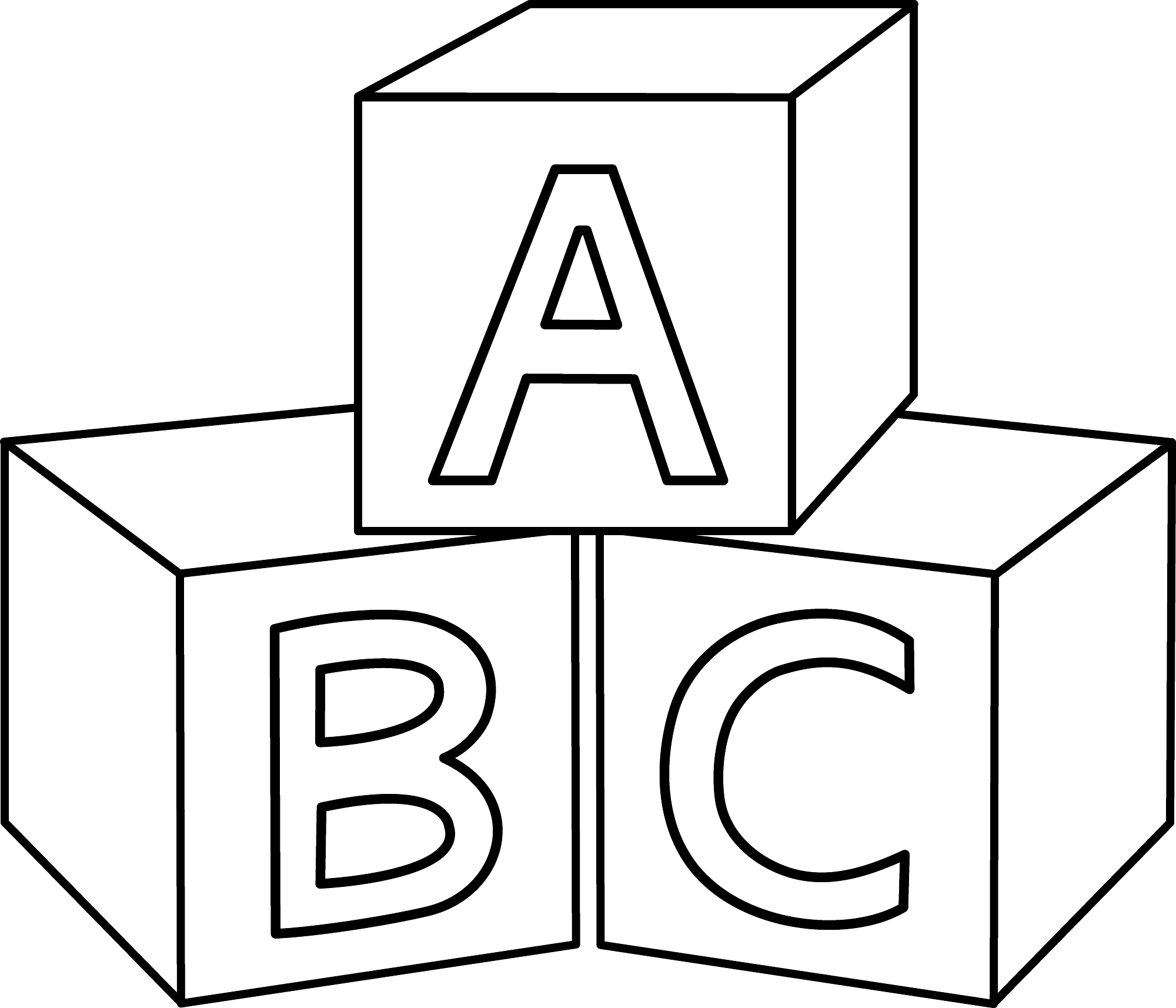 letter blocks coloring pages - photo#5