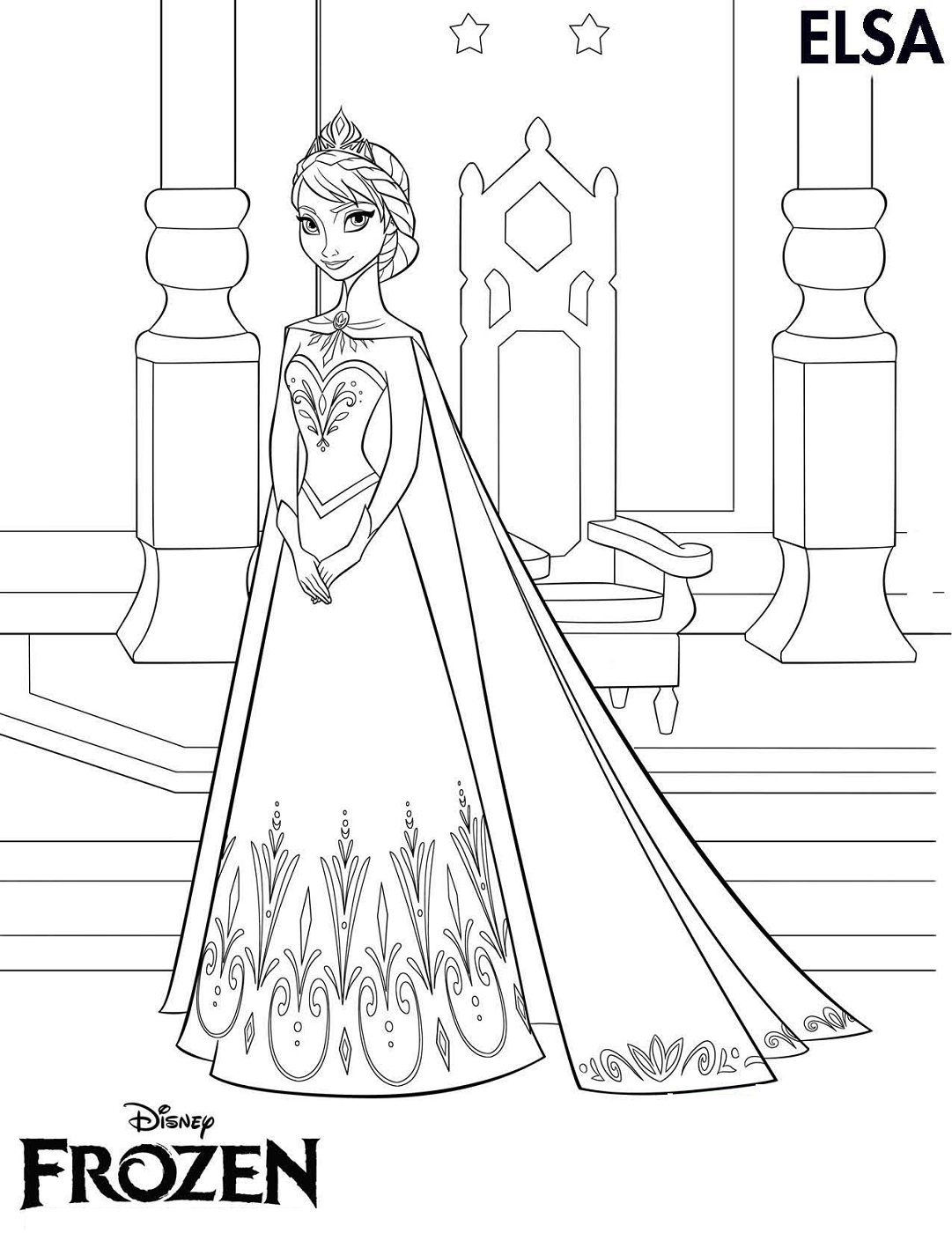 Frozen worksheets coloring printable activity shelter for Worksheet coloring pages