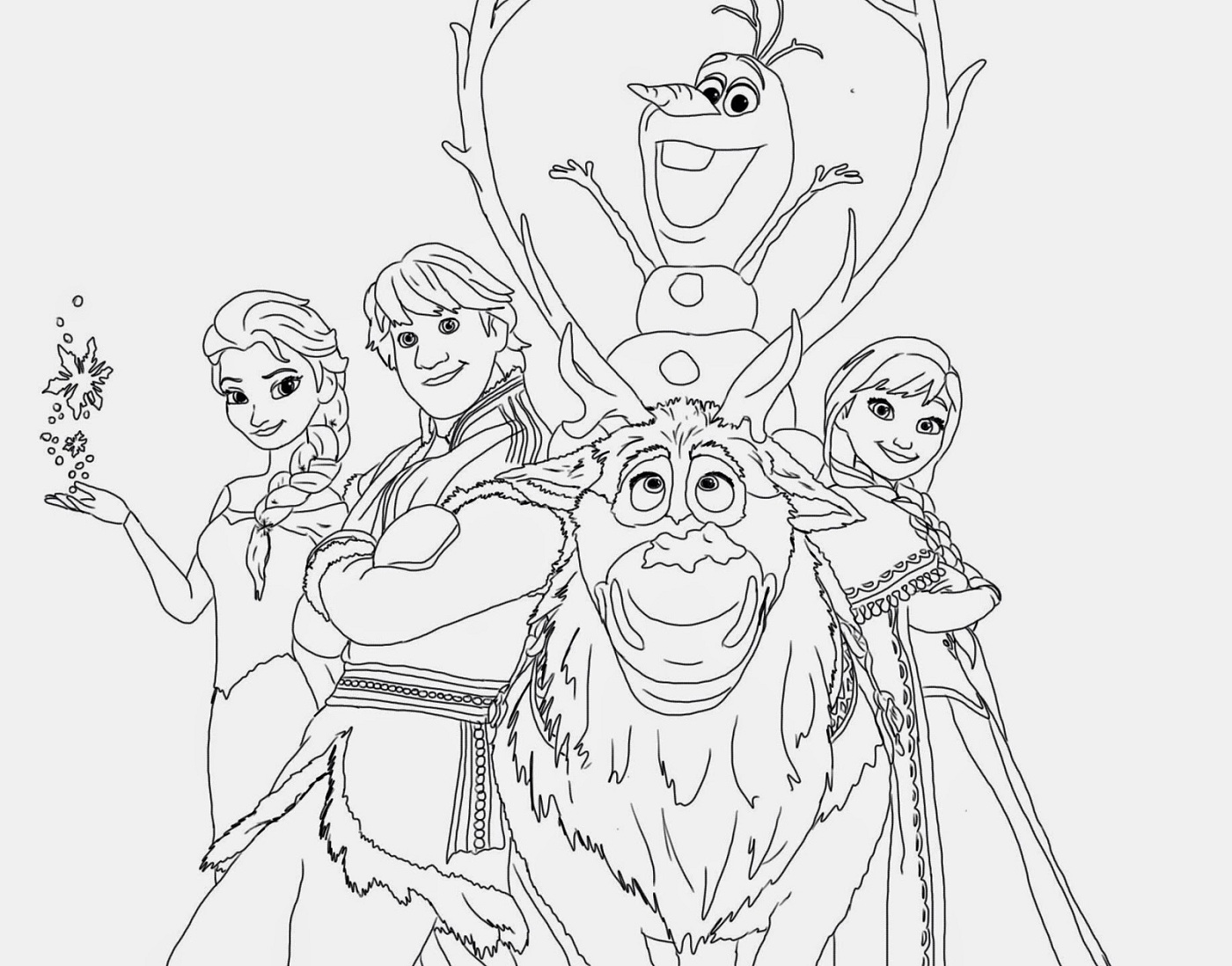 frozen coloring pages for kindergarten - photo#4
