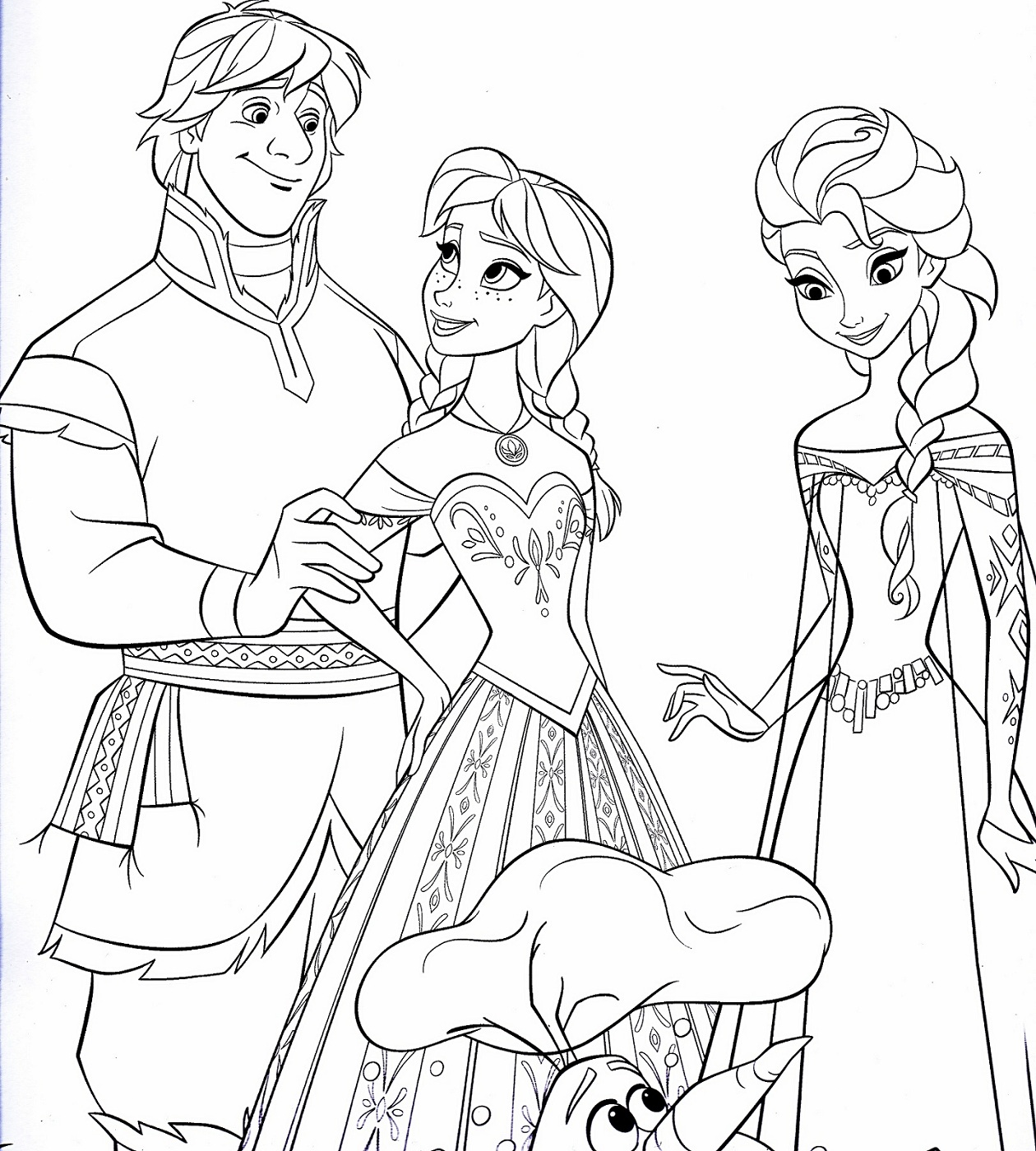 Frozen worksheets coloring printable activity shelter for Coloring pages for frozen characters