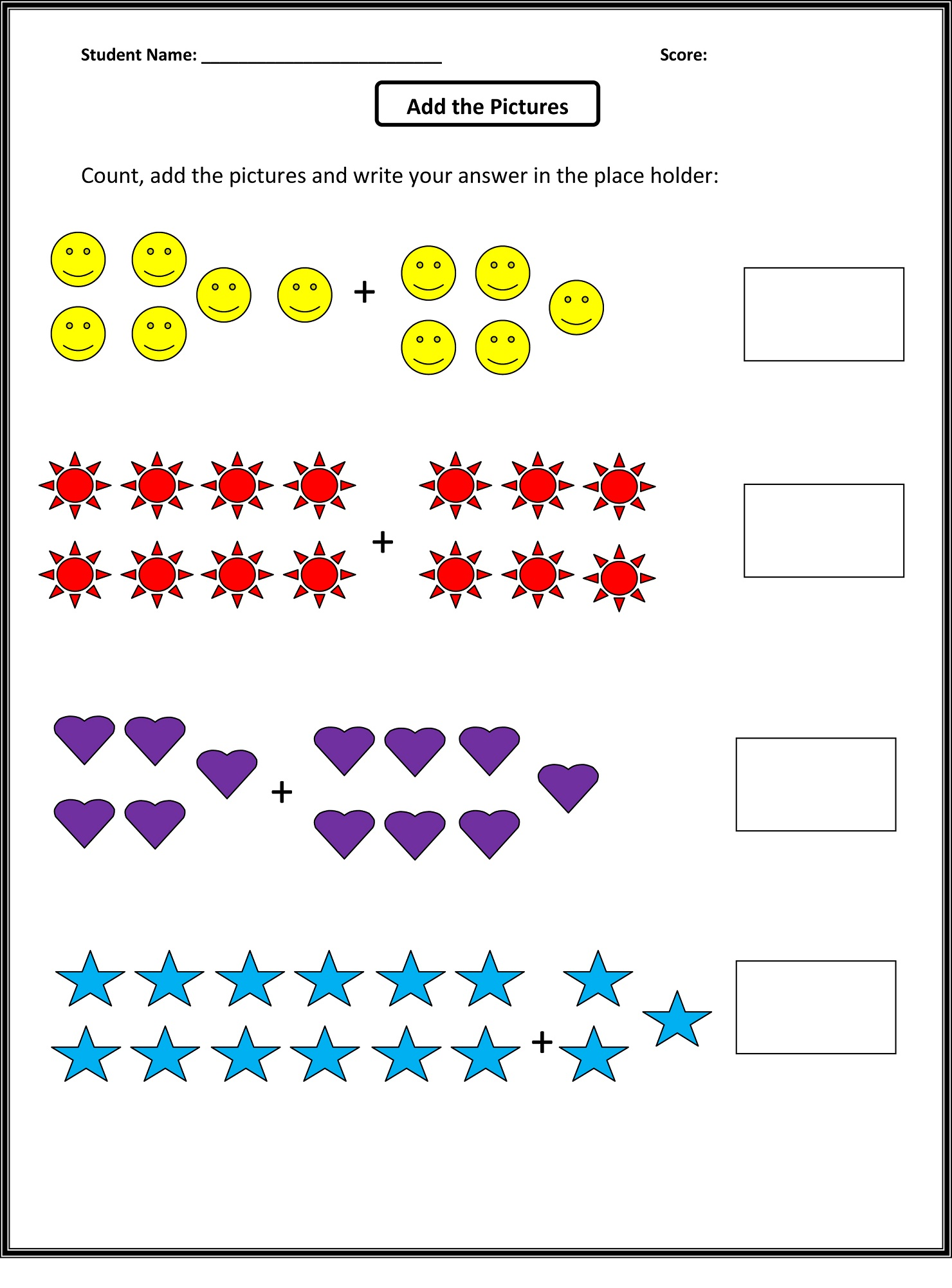 worksheets addition math