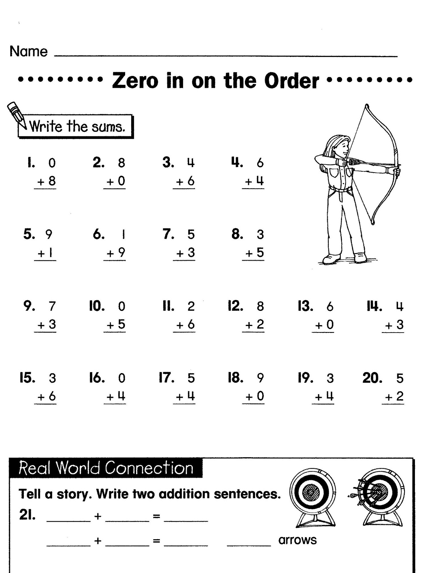 Worksheet Grade 1 Worksheets Free free math worksheets for grade 1 and 2 printable