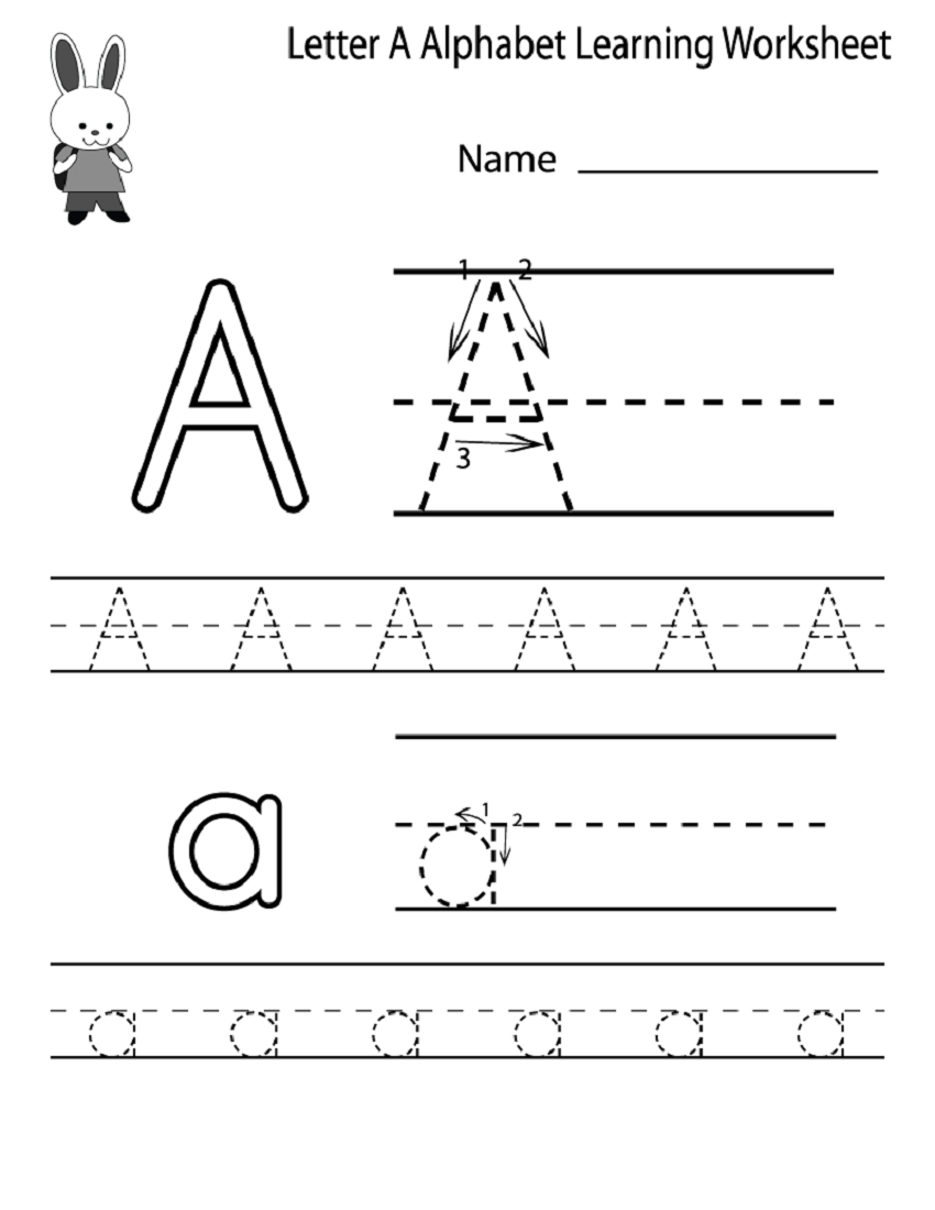 Preschool Writing Worksheets : Kindergarten alphabet worksheets to print activity shelter