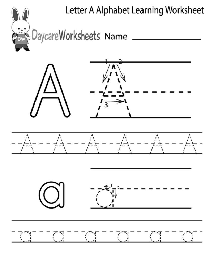 Writing Printable Kindergarten Worksheets : Kindergarten alphabet worksheets printable activity shelter