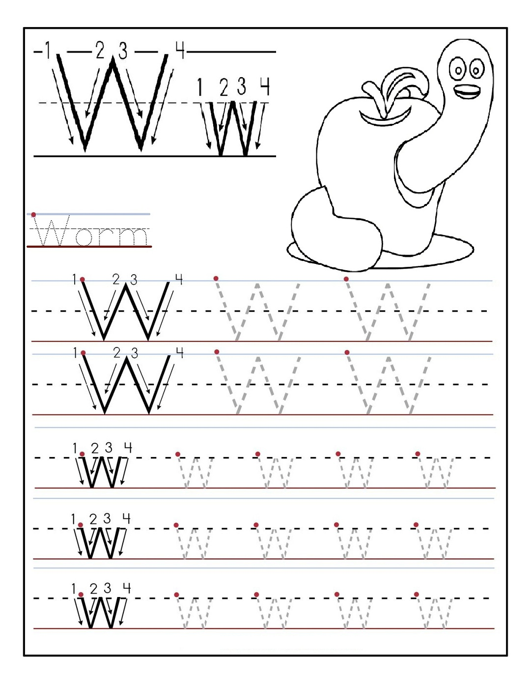 Hindi Alphabet and Letters Writing Practice Worksheets