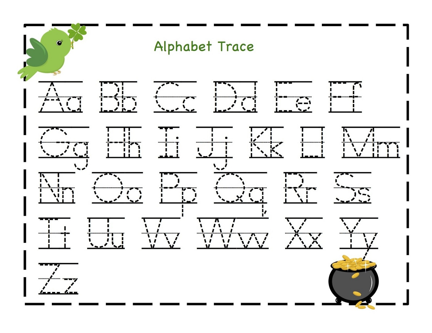 Free alphabet writing worksheets for kindergarten