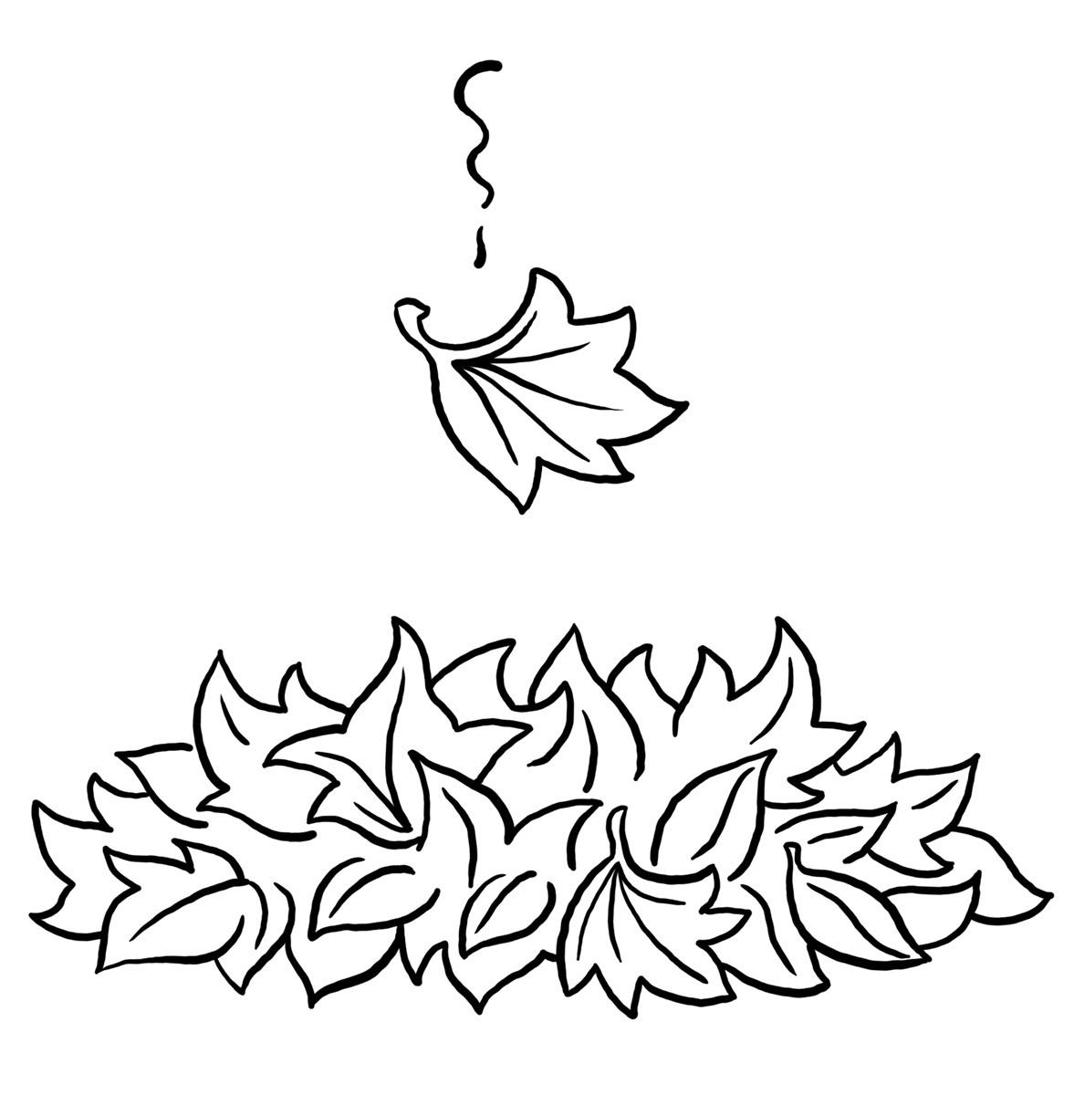 leaf coloring for kids