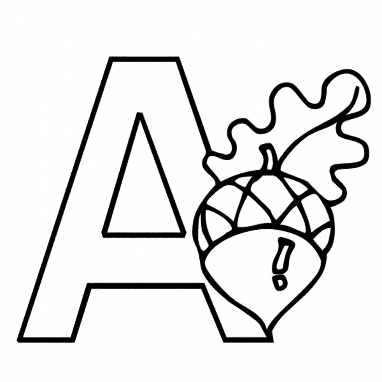 letter a printable 2016