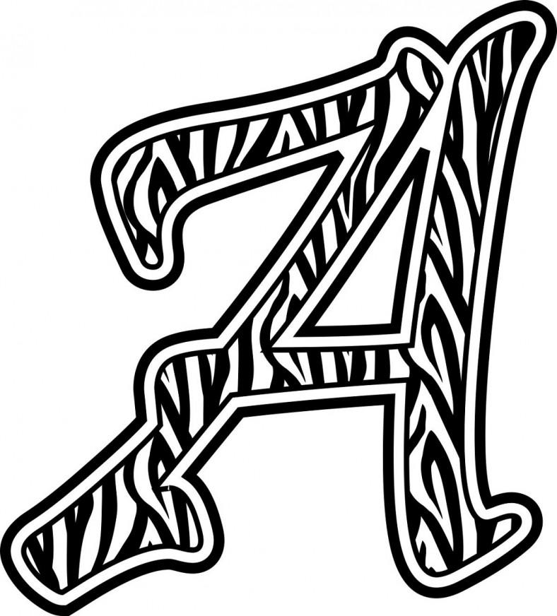 letter a printable black