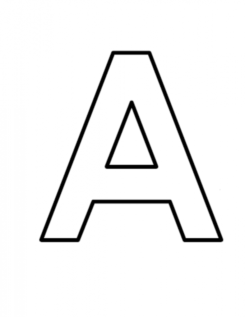 letter a printable free