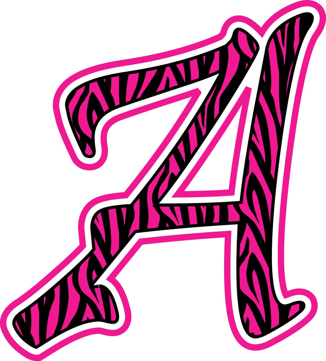 letter a printable pink