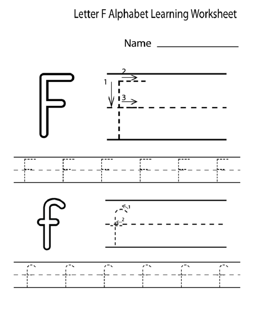Letter F Worksheet for Preschool and Kindergarten | Activity Shelter