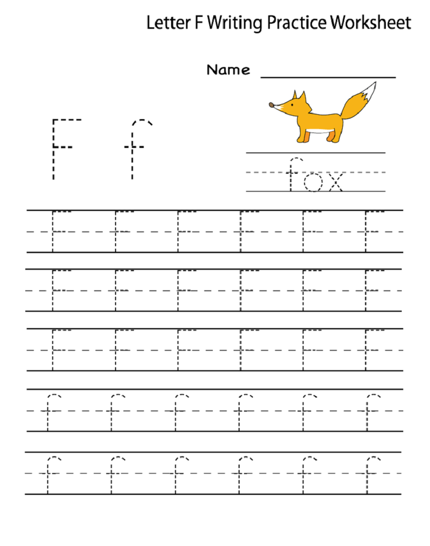 Letter F Worksheet for Preschool and Kindergarten ...