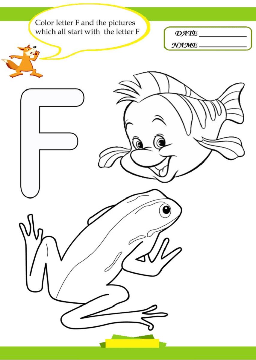 Letter F Worksheet for Preschool and Kindergarten ...