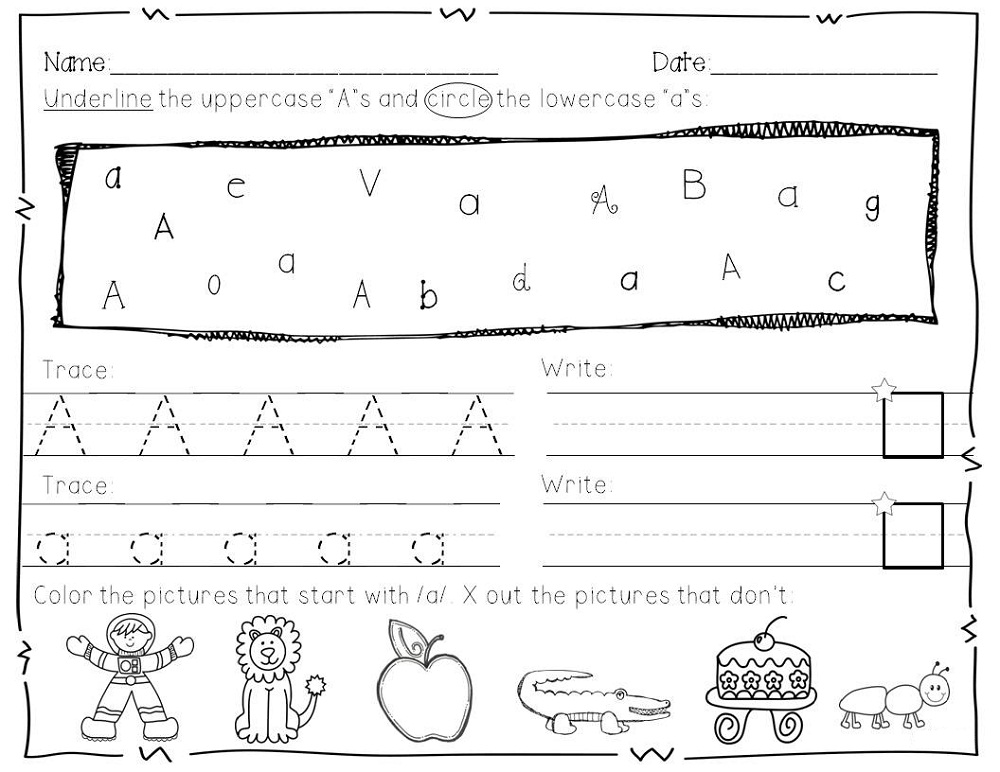Worksheets Letter Practice letter practice for preschoolers activity shelter school