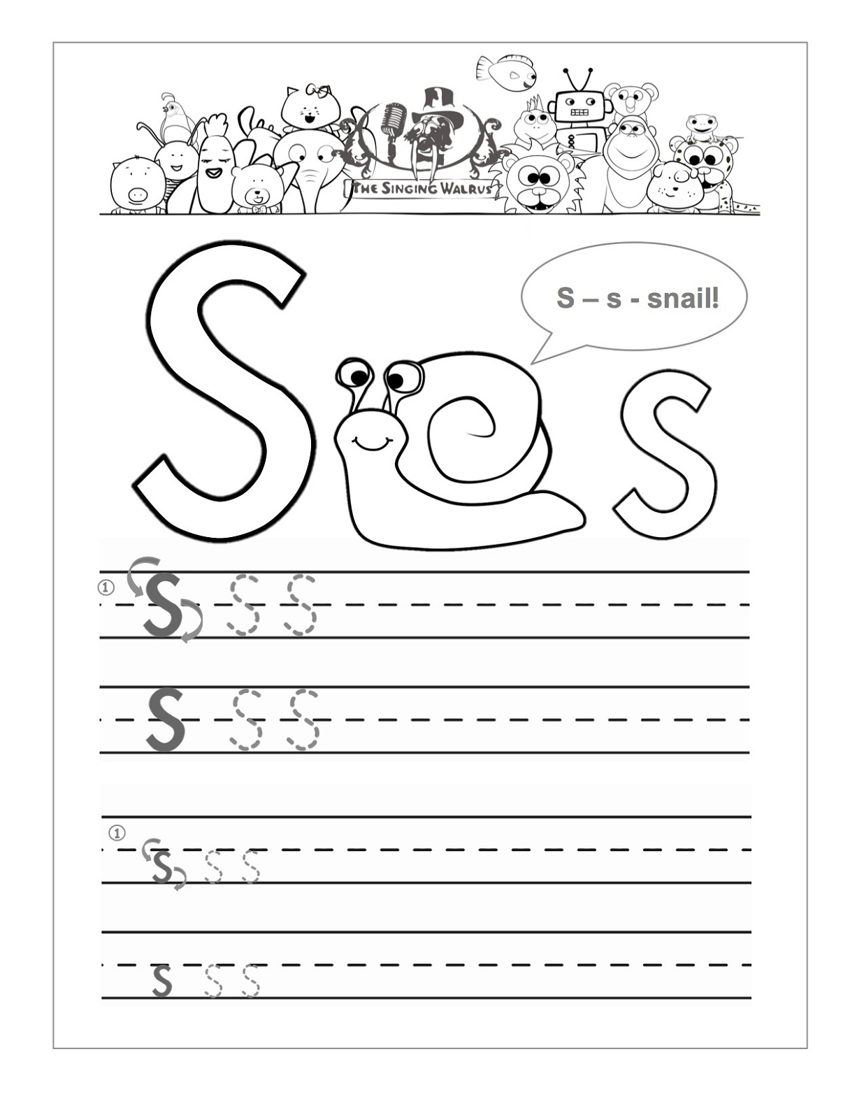 letter s worksheet 2016