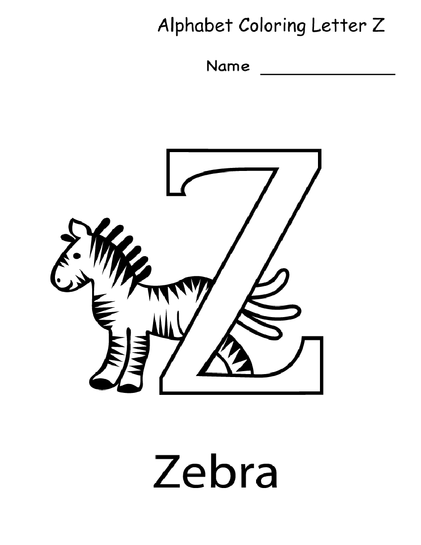 Worksheets Letter Z Worksheets letter z worksheets for kindergarten activity shelter coloring image via printablecolouringpages co uk