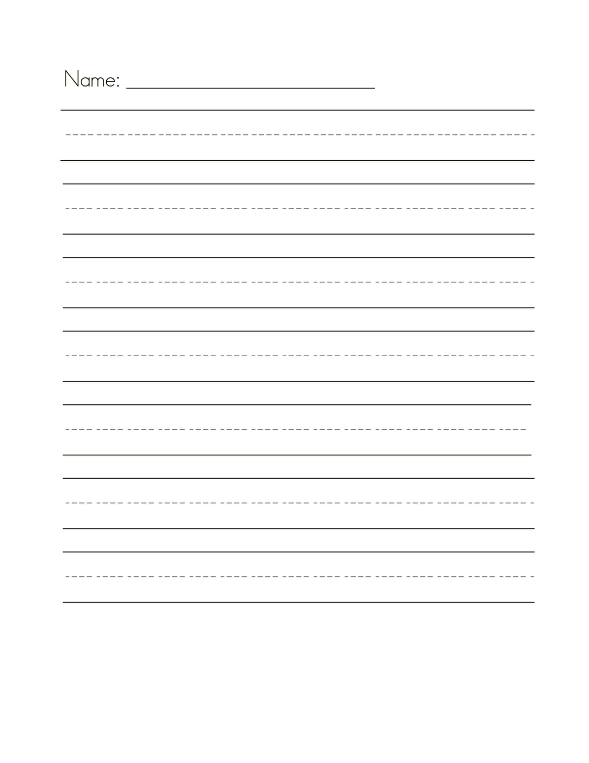 lined paper for writing 2016