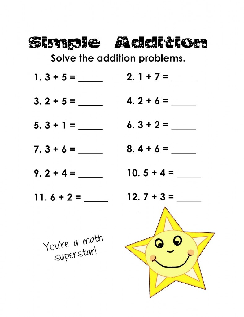 Free printable math worksheets for grade 2 addition